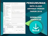Pengumuman Data Ulang Advokat Perhimpunan Advokat Indonesia Tahun 2018